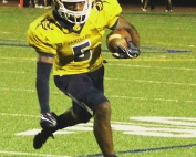 Southwest DeKalb running back Eian Scott rushed for 212 yards and three touchdowns in the Panthers' 42-0 win over Redan. (Photo by Mark Brock)