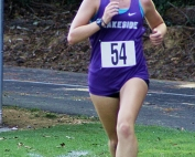 Lakeside senior Emma Hanson ran the fastest girls' time in the county this season to win the DCSD Girls County Championship. (Photo by Mark Brock)
