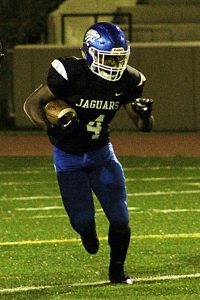 Stephenson senior running back Jevon Goff is coming of a 179 yards rushing, 2 TD performance against Lovejoy. (Photo by Mark Brock)