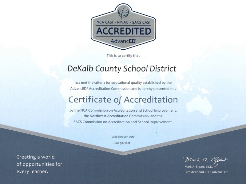 Slide02: DCSD Certificate of Accreditation