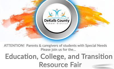 Banner: Special Education Resource Fair 2018 | ATTENTION! Parents & caregivers of students with Special Needs, please join us for the EDUCATION, COLLEGE, AND TRANSITION RESOURCE FAIR