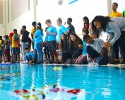 Schools from throughout DCSD and beyond united at Chamblee Charter High School for a regional SeaPerch competition.