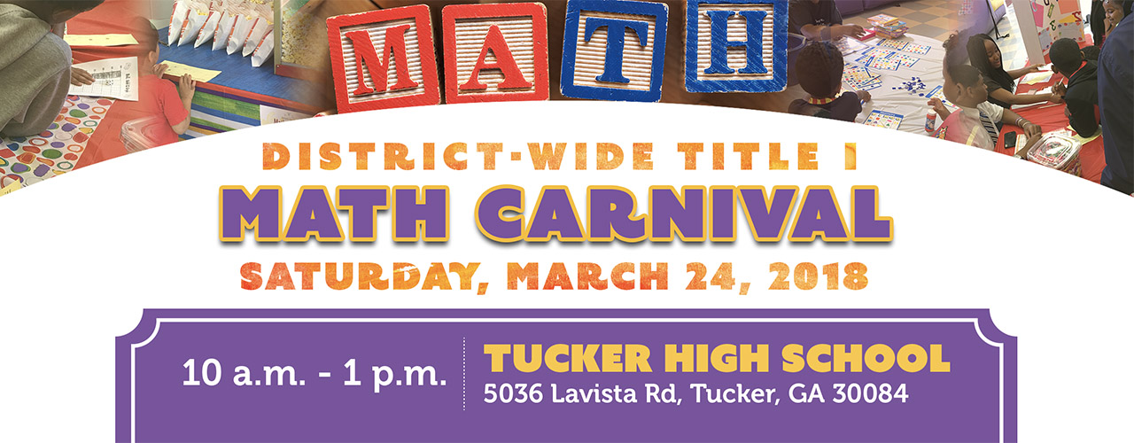 Title 1 Math Carnival on Saturday, March 24, 2018