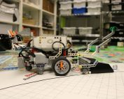 LEGO robot on table