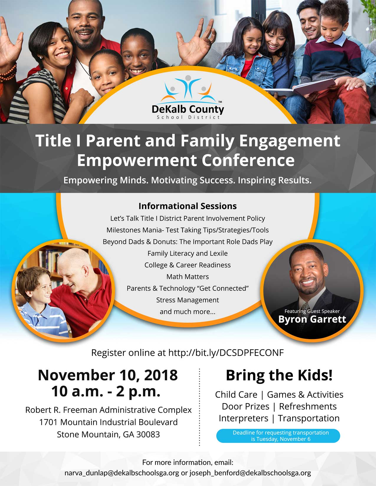 Title 1 parent and family engagement conference flyer