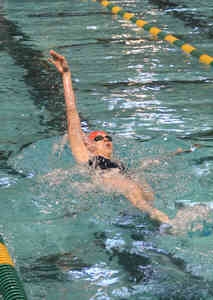 Dunwoody's Allie Reiter took home a pair of gold medals from the DeKalb Co. Swim and Dive Championships.