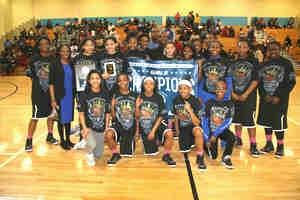 2015 DeKalb Co. Middle School Girls' Champions - Stephenson Lady Jaguars (16-0)