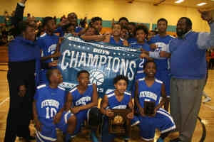 2015 Middle School Boys' Champions -- Stephenson Jaguars (14-3)