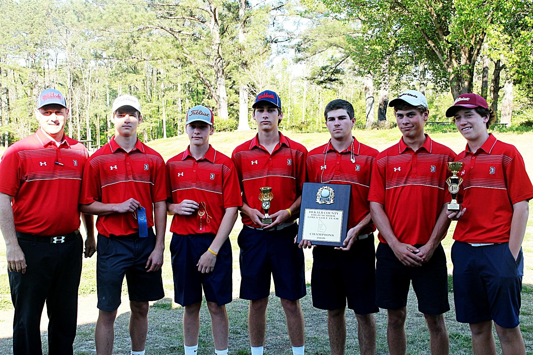 2016 DCSD Boys' Golf Champions -- Dunwoody Wildcats