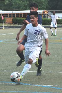 Lakeside's Saul Tinoco scored two goals, the last with 11:08 to play to lead the Vikings to a 2-1 win over South Cobb in the Class 6A boys' state playoffs first round. (Photo by Mark Brock)