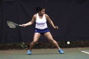 Chamblee's Madison Trinh has taken over the No. 1 singles this season and performed with a 7-0 record. (Photo by Mark Brock)