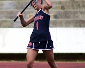 Dunwoody's Jenna Hogan wins a face off during regular season action.