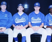 The Chamblee Bulldogs had a great week between the lines with four wins. From media day (l-r) Assistant Coach and Junior Varsity Coach Alan Loper, David Albuquerque, Matt Welsh and Travis Hammond.