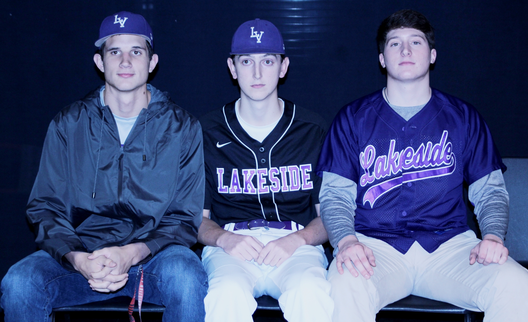 Lakeside Vikings (l-r) Matthew Holt, Jack Tansill and Charlie Ludwick