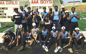 Four Time Class 3A State Track Champions -- Cedar Grove Saints (2015-2018)