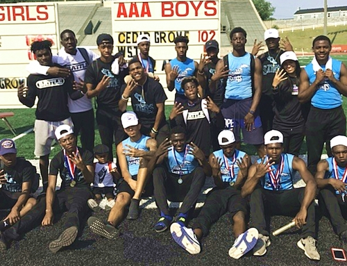 Saints March Home with Fourth Consecutive Class 3A State Track Title