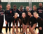 2018 DCSD County Gymnastics Champions -- Druid Hills Red Devils