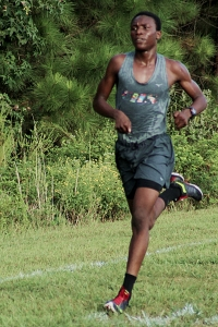 Clarkston sophomore Thadde Barge won his second consecutive DeKalb County race on Tuesday at Arabia Mountain. (Photo by Mark Brock)