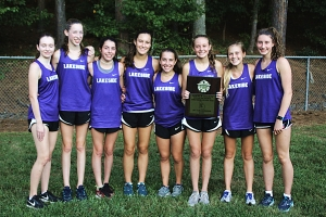 2018 DCSD JV Grils Cross Country Champions -- Lakeside Lady Vikings