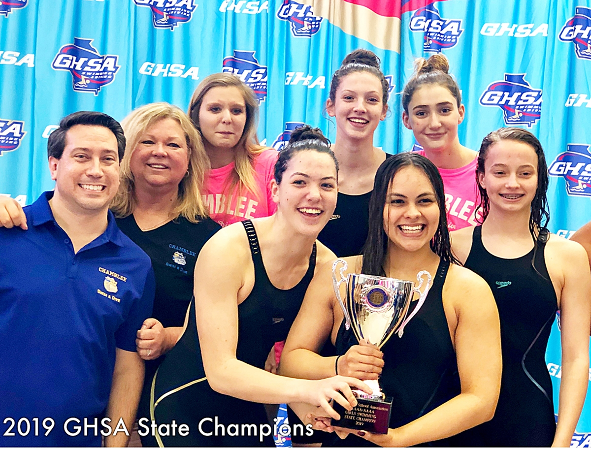 Chamblee Lady Bulldogs bring home DeKalb's first state swim title since 1987 and the program's first ever title.