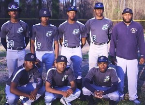 Southwest DeKalb moved to top of Region 5-5A standings during Week 6 of the high school baseball season. Some of the team members include (front, l-r) Kendrick Scott, Chauncey Adams and Calvin Sims (Back, l-r) Eason Bing, Juston Jordan, Ernest Spikes, Theo Bryant and Head Coach Tyrus Tyler.