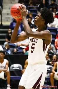 Tucker's David Giddens shoots a free throw during second half play in another Class 6A boys' championship thriller against Tri-Cities. (Photo by Mark Brock)