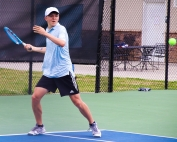Chamblee's Andrew Pietkiewicz rallied to win the deciding match at No. 1 singles to put the Bulldogs into the Class 5A Final Four. (Photo by Mark Brock)