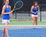 Chamblee's No. 1 doubles team of Madeline Meer and Madison Trinh lead the Lady Bulldogs into the Class 5A semifinals against Carrollton. (Photo by Mark Brock)