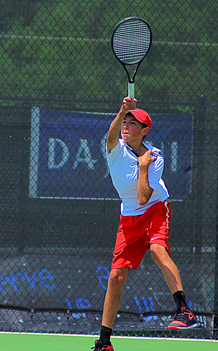 Dunwoody's No. 3 singles player Quinn Wicklund and the Wildcats face Northview for the third time this season in the Class 6A semifinals. (Photo by Mark Brock)