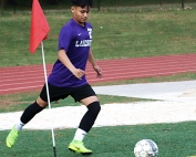 Lakeside's Eduardo Guillen and his Viking teammates have moved up to No. 2 in the Class 7A soccer rankings as they head into their home playoff game against Peachtree Ridge on Wednesday at Adams Stadium. (Photo by Mark Brock)
