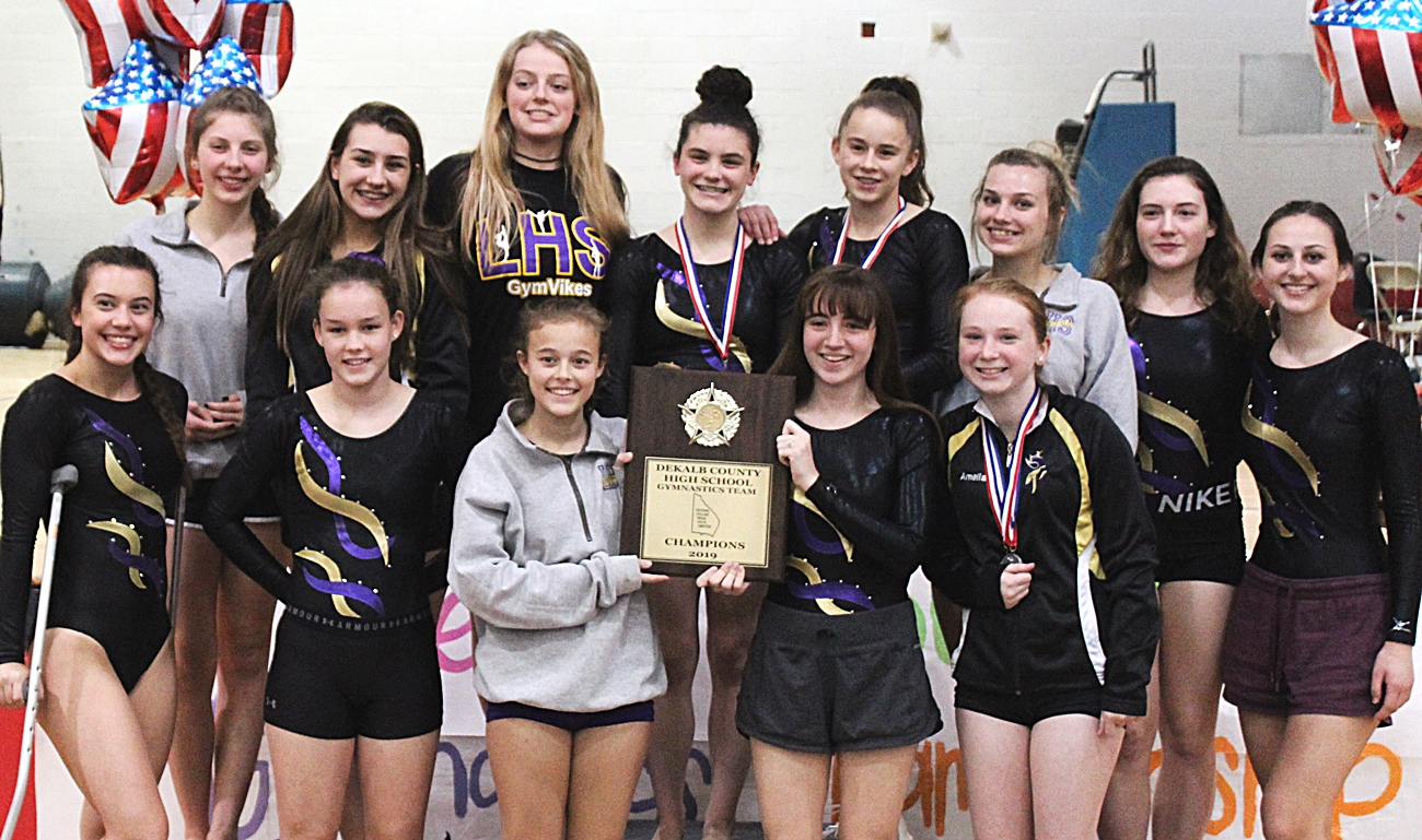 2019 DCSD County Gymnastics Champions - Lakeside Lady Vikings