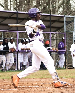 Miller Grove's Jalen Buckner (34) had two doubles, 3 RBI and 2 stolen bases during Week 7 action against Arabia Mountain
