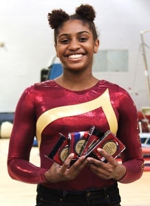 Tucker's Altagracia Frazier is headed to the GHSA Dr. Lucia Norwood Gymnastics Championships on Saturday. She will be joined by Lakeside's Emma Cohen.