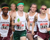 Bineyam Tumbo (far left) splits time between studies, creating companies and running cross country for Earlham College.