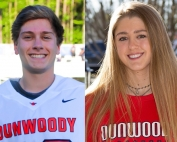 Dunwoody lacrosse seniors (l-r) Sean Fox and Phoebe Ringers give back to the community in more than athletics.