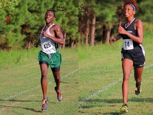 Clarkston's Thadde Barge (left) and Zoi Woods (right) helped the Angoras to a sweep in the second race at Arabia Mountain on Tuesday. (Photo by Mark Brock)