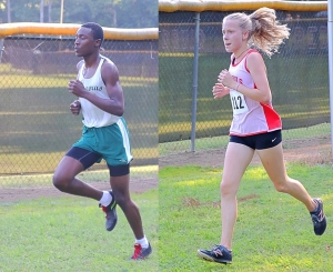 Clarkstons' Thadde Barge (left) and Druid Hills' Sophia Shepherd grabbed first place finishes this week. (Photo by Mark Brock)