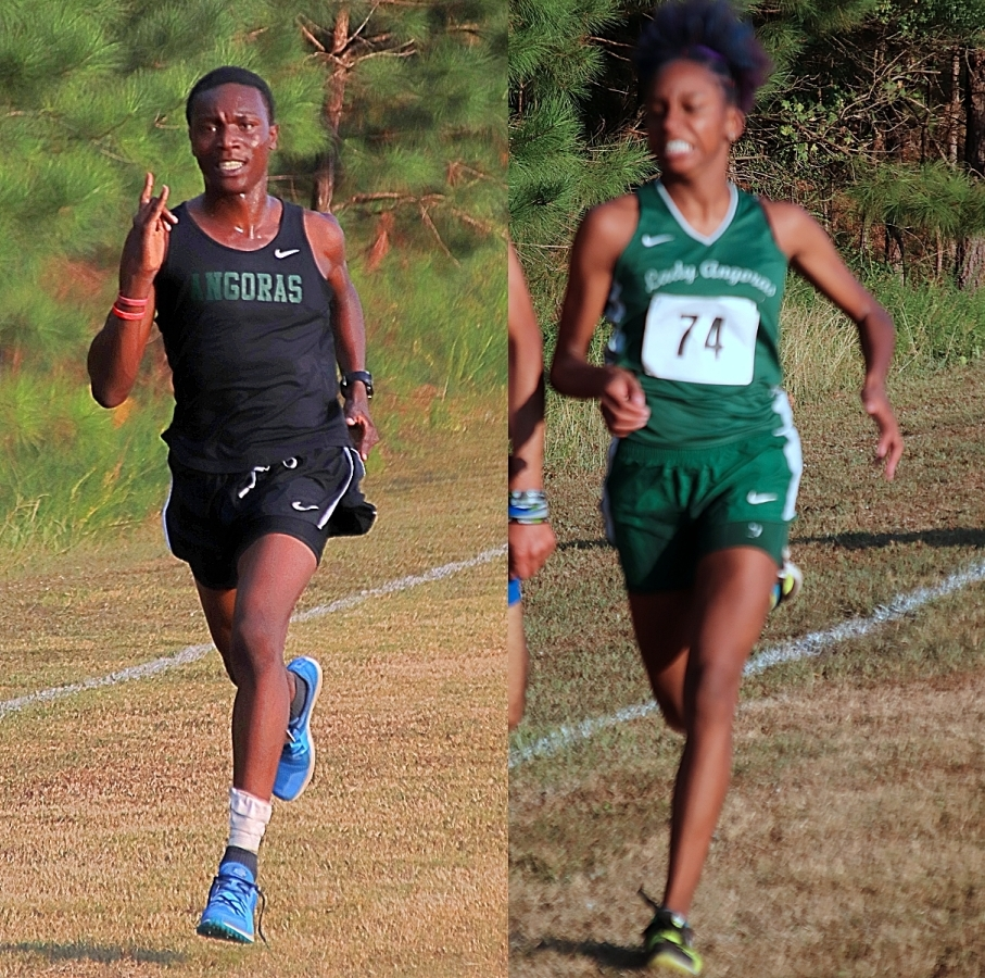 Clarkston's Thadde Barge (left) and Zoi Woods swept the boys' and girls' titles at Arabia Mountain on Tuesday.
