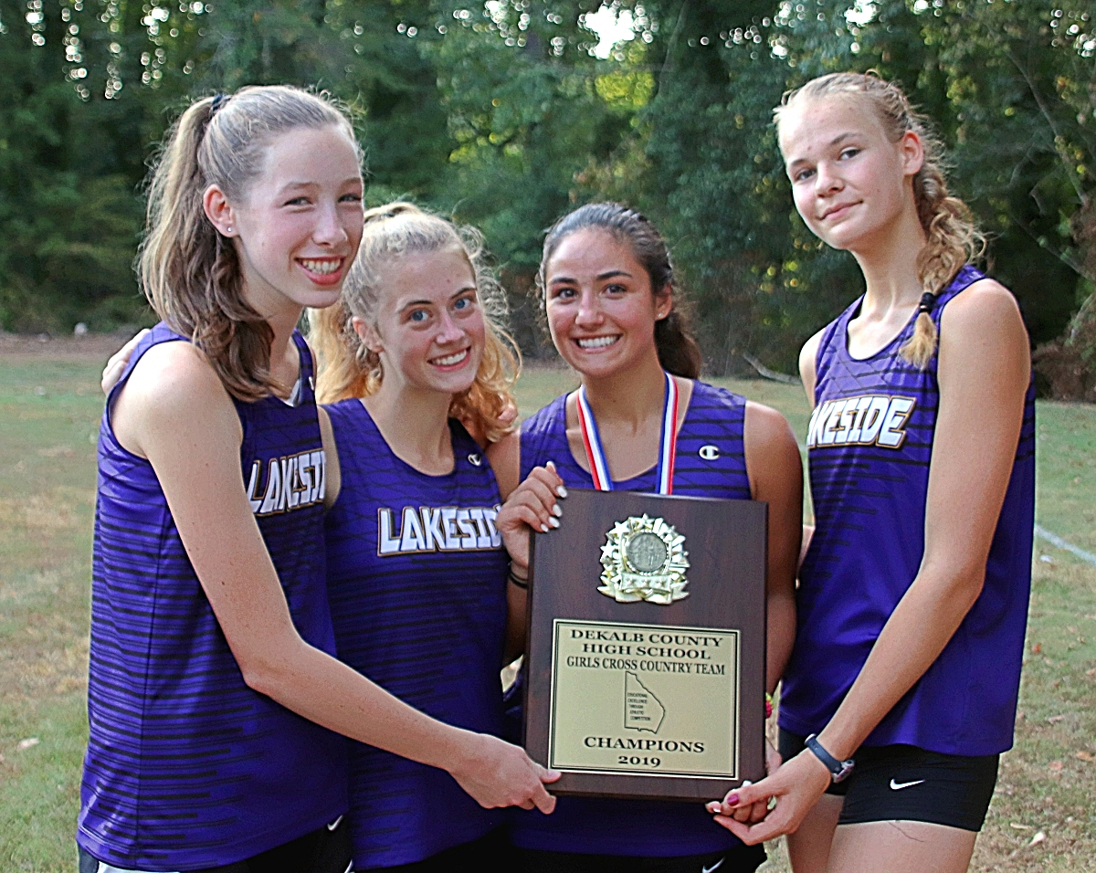 2019 DCSD JV Cross Country Champions -- Lakeside Lady Vikings