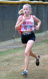 Druid Hills' Sophia Shepherd led the Lady Red Devils to the Region 4-4A girls' title and a spot in the state championships. (Photo by Mark Brock)