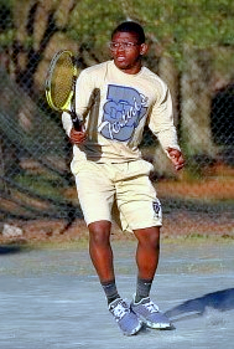 Southwest DeKalb 2019 graduated Khalen Wimes signed with Point University to play tennis and further his academic career. (Photo courtesy of Lance Davenport)