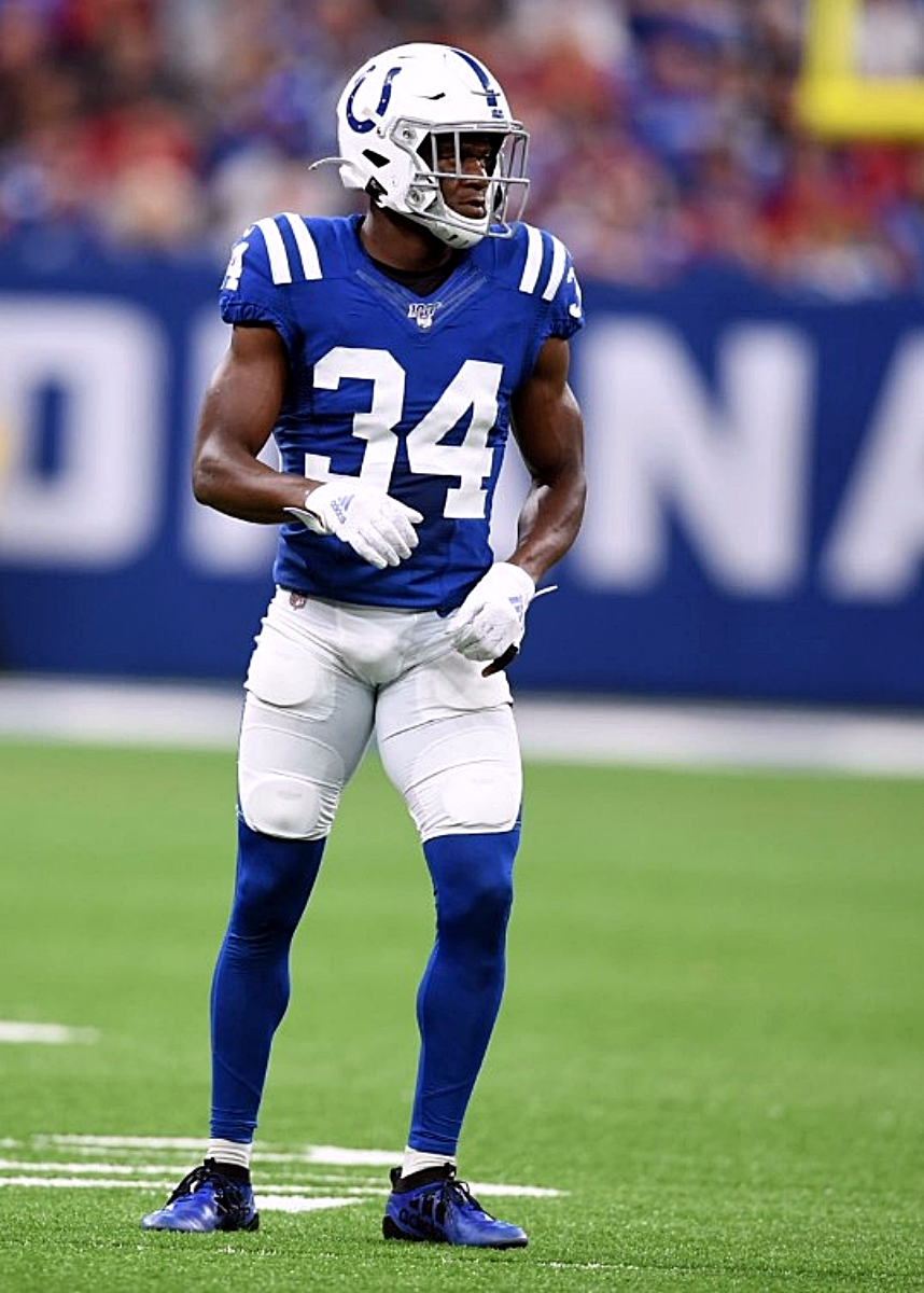 Indianapolis Colts rookie Rock Ya-Sin takes time out to speak at his alma mater, Southwest DeKalb, on Wednesday.