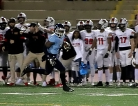 Cedar Grove sophomore running back Rashod Dubinion (7) was off to the races on a 62-yard touchdown run. (Photo by Mark Brock)