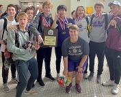 Vikings celebrate second consecutive DCSD Swim championship and 21st overall.