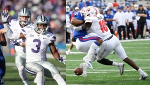 (l-r) Kansas State's Elijah Sullivan (Tucker) and Western Kentucky's Deangelo Malone (Cedar Grove) made an impact for their teams in 2019. (Photos courtesy of Kansas State and Western Kentucky Athletics)
