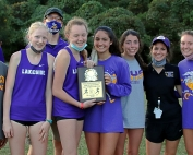 Lakeside reached the podium at the Class 6A Girls State Cross Country Meet on Saturday with a fourth place finish. (Photo by Mark Brock)