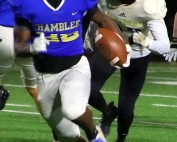 Chamblee running back Brayson Seaborne (22) gets loose on his way to a 36 yard touchdown run. (Photo by Mark Brock)