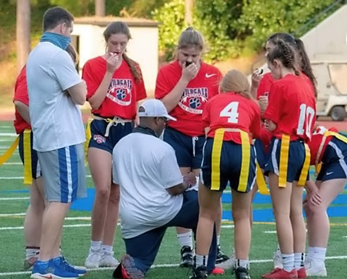 Dunwoody leads the three teams playing their inaugural seasons of girls' flag football with a 4-4 record. Lakeside and McNair are also competing in DeKalb's first year of participation.