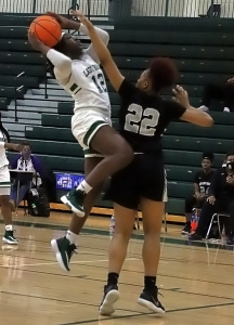 Arabia Mountain junior Makayla Jamison (12) and her Lady Rams teammates begin the Class 4A state playoffs hosting Heritage-Catoosa on Tuesday (Feb. 23) at 5:30 pm. (Photo by Mark Brock)