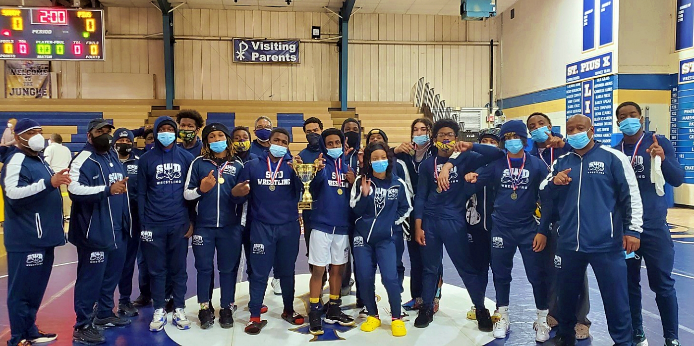 The Southwest DeKalb Panthers won the Area 5-5A Traditional Wrestling Championship with 10 gold medals and qualified a county leading 13 wrestlers for the State Championships. (Courtesy Photo)